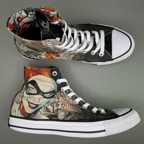 Converse CTAS x Harley Quinn DC Comics Shoes W 9